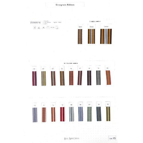 グログランリボンサンプル帳 125-15