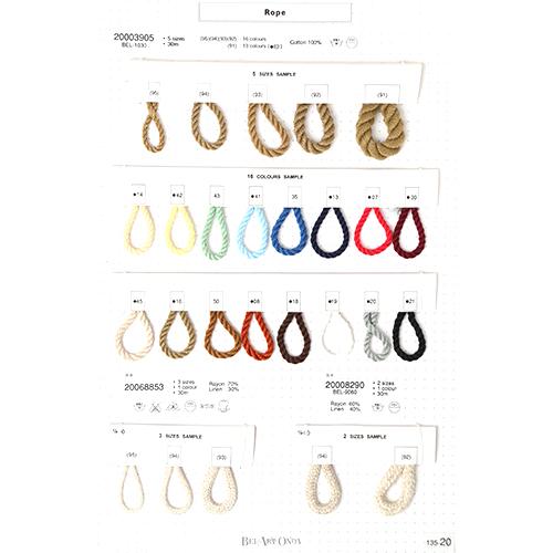ロープ&コードリボンサンプル帳 135-20