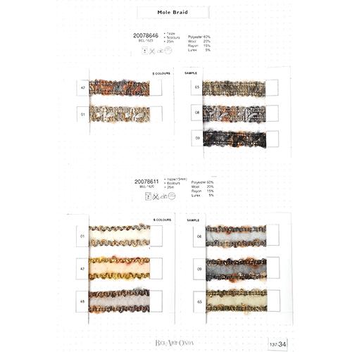 ウール&モールリボンサンプル帳 137-34