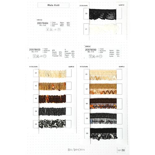 ウール&モールリボンサンプル帳 137-36