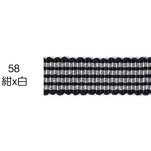ストライプグログランリボン 58