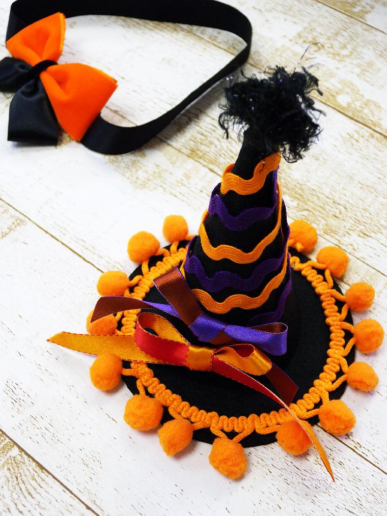 ハロウィン魔女帽子&蝶ネクタイ